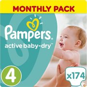 Pampers подгузники Active Baby-Dry 9-14 кг (174 шт) фото